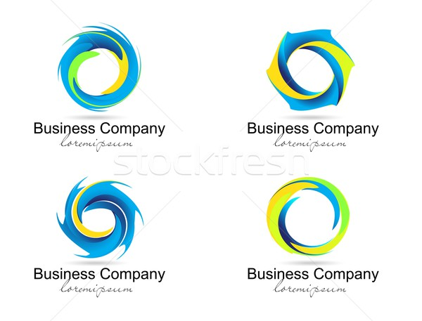 Kurumsal iş logo yaratıcı vektör spiral circles Stok fotoğraf © twindesigner