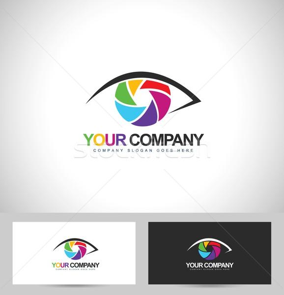 Fotógrafo diseño de logotipo fotografía diseno ojo tarjeta de visita Foto stock © twindesigner