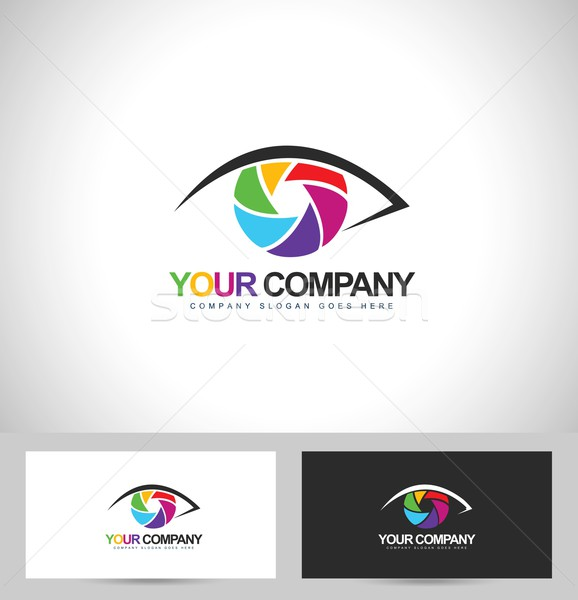 фотограф дизайн логотипа фотографии дизайна глаза визитной карточкой Сток-фото © twindesigner