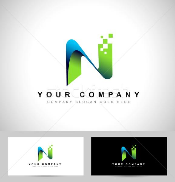 логотип аннотация дизайн логотипа визитной карточкой шаблон Сток-фото © twindesigner