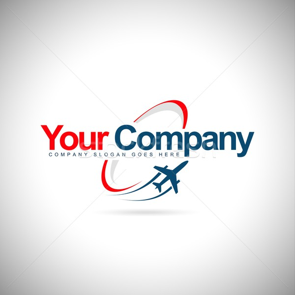 Plane Logo Stock photo © twindesigner