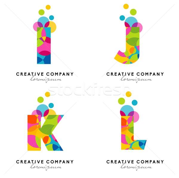 Alphabet lettres logo Creative vecteur coloré Photo stock © twindesigner