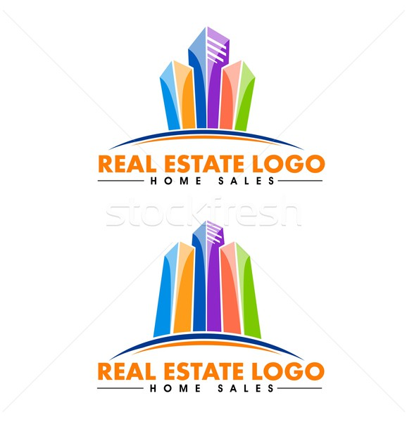недвижимости дизайна Creative зданий вектора бизнеса Сток-фото © twindesigner