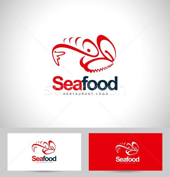 морепродуктов ресторан логотип дизайн логотипа Creative визитной карточкой Сток-фото © twindesigner