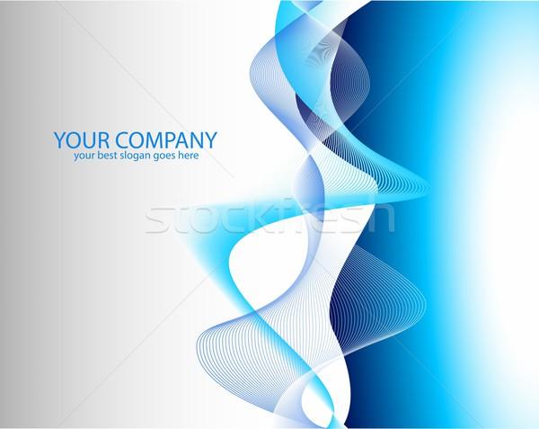 Résumé bleu Creative vecteur société brochure Photo stock © twindesigner