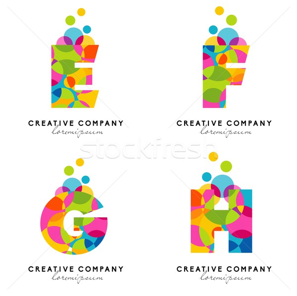 алфавит письма логотип Creative вектора красочный Сток-фото © twindesigner