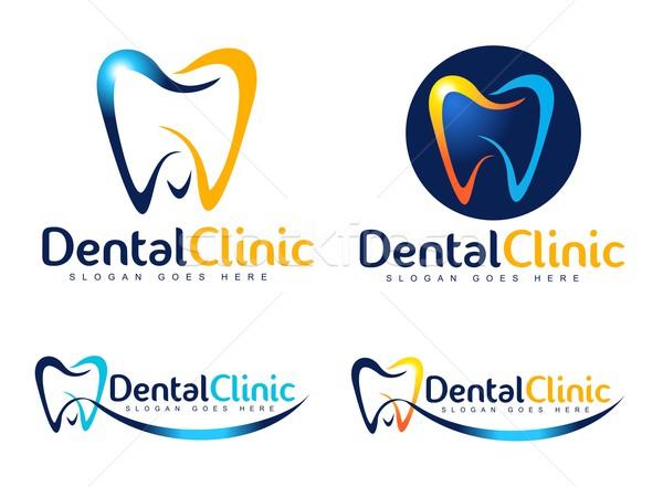 стоматологических стоматолога логотип дизайн логотипа клинике Creative Сток-фото © twindesigner