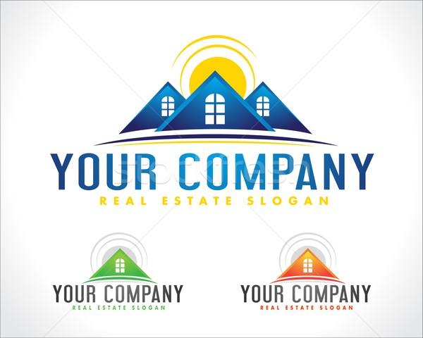 Immobilier logo design maison Creative vecteur Photo stock © twindesigner