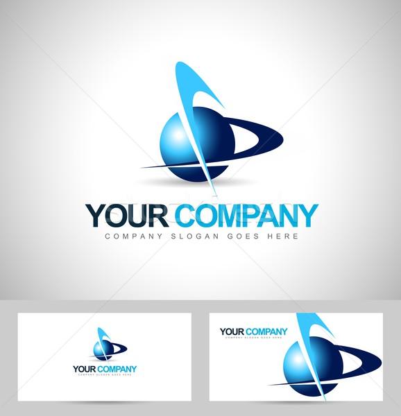 бизнеса корпоративного логотип Creative вектора икона Сток-фото © twindesigner