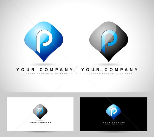 Logo vecteur Creative résumé broches Photo stock © twindesigner
