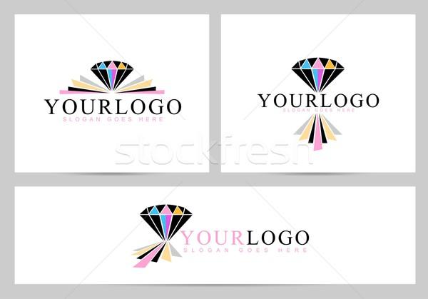 Diamant logo vecteur Creative anneau conception de logo Photo stock © twindesigner