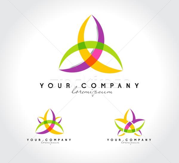 Résumé fleur logo Creative vecteur Photo stock © twindesigner