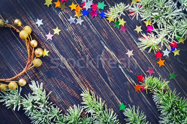 Ağaç soyut doğa çerçeve tablo oyuncak Stok fotoğraf © tycoon