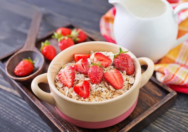 Café da manhã cozinha leite trigo vida comer Foto stock © tycoon