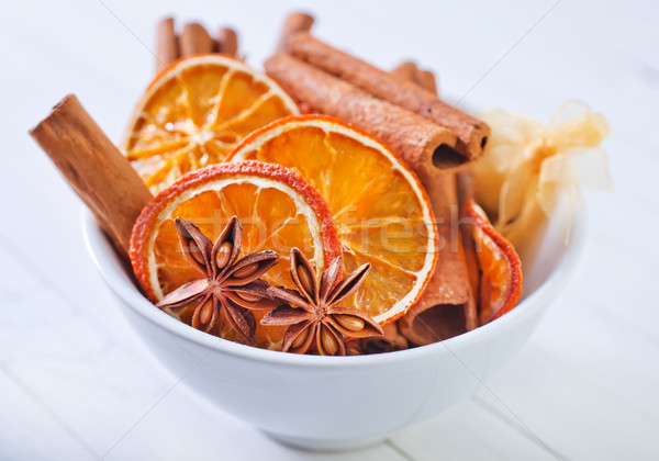 Tempero cozinha estrela chá escuro Foto stock © tycoon