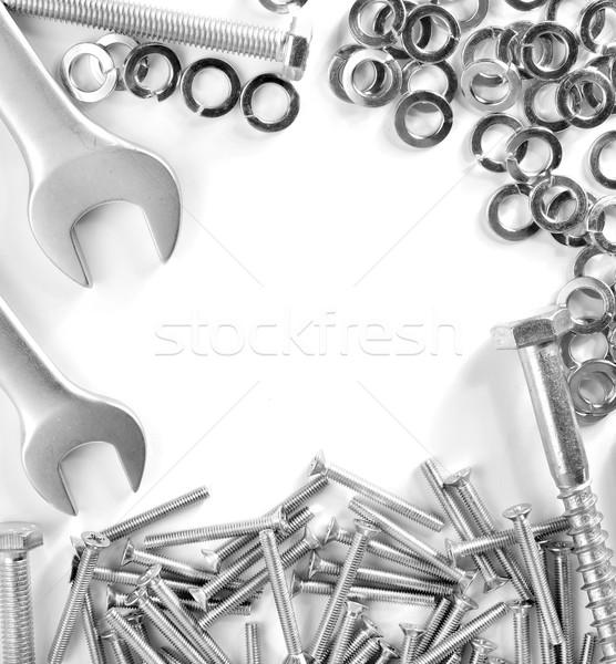 Dadi sfondo spazio industriali acciaio studio Foto d'archivio © tycoon