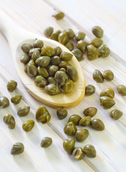 Vidrio color blanco cocina comida saludable Foto stock © tycoon