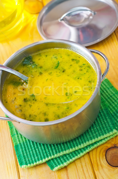 Soupe fromages métal bol vin fond Photo stock © tycoon