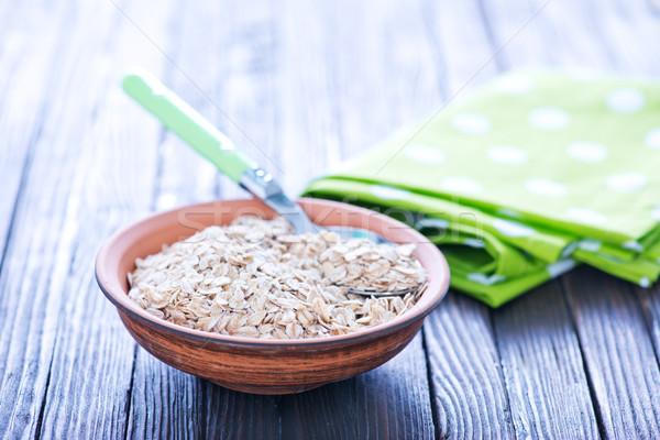 Haver ruw drogen textuur gezondheid Stockfoto © tycoon