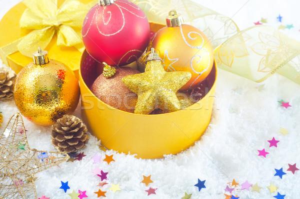 Рождества украшение свет дизайна снега фон Сток-фото © tycoon