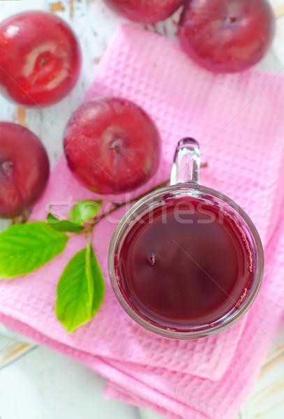 Pruim sap natuur glas gezondheid zomer Stockfoto © tycoon