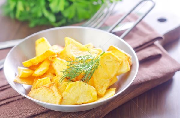 Patates ev arka plan Metal akşam yemeği Stok fotoğraf © tycoon