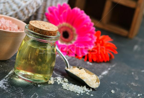 Aroma olaj üveg üveg asztal orvosi Stock fotó © tycoon