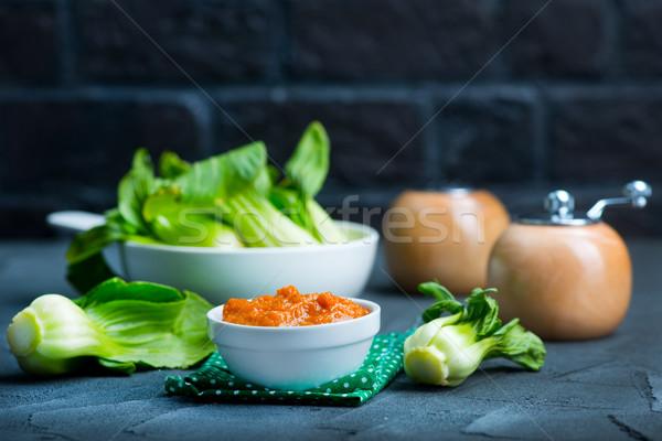 pak choi with sauce Stock photo © tycoon