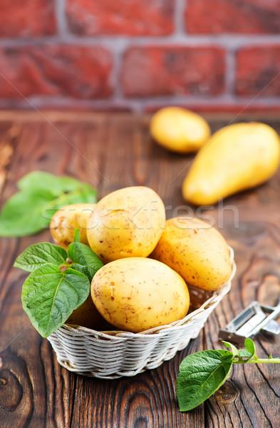 Aardappel ruw mand tabel voorjaar voedsel Stockfoto © tycoon