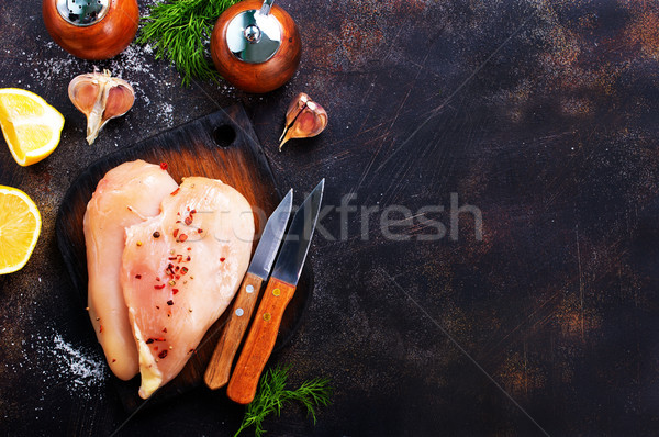raw chicken fillets Stock photo © tycoon