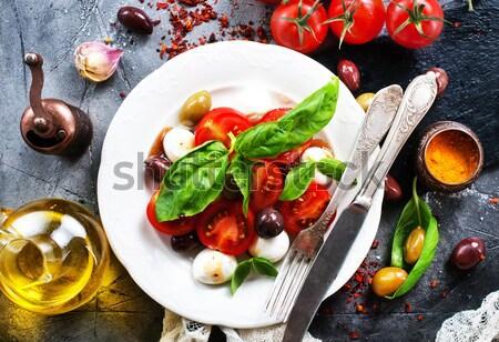 Kebap sebze plaka tablo gıda Stok fotoğraf © tycoon