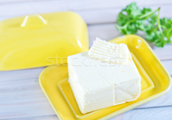 Mantequilla placa mesa fondo cocina leche Foto stock © tycoon