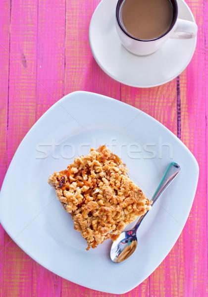 Stockfoto: Appeltaart · hout · Rood · ontbijt · dessert · vers