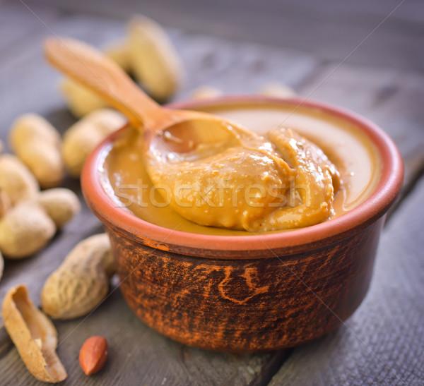 Amendoins manteiga tabela branco caminho comer Foto stock © tycoon