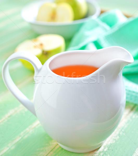 Almalé gyümölcs asztal ital arany szín Stock fotó © tycoon