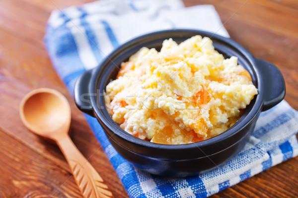 コテージ フルーツ ミルク 色 朝食 食べ ストックフォト © tycoon