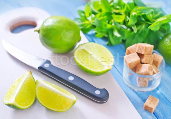 fresh limes with sugar  Stock photo © tycoon