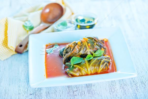 dolma with tomato sauce Stock photo © tycoon