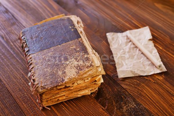 Starej książki szkoły przestrzeni czasu czarny badania Zdjęcia stock © tycoon