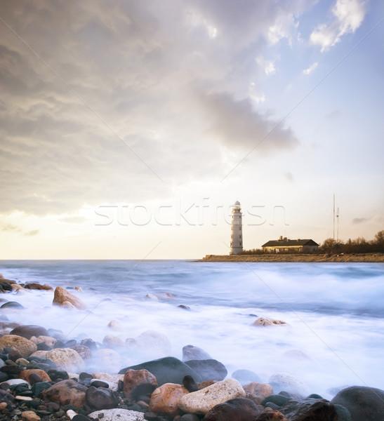 Faro cielo casa sole natura luce Foto d'archivio © tycoon