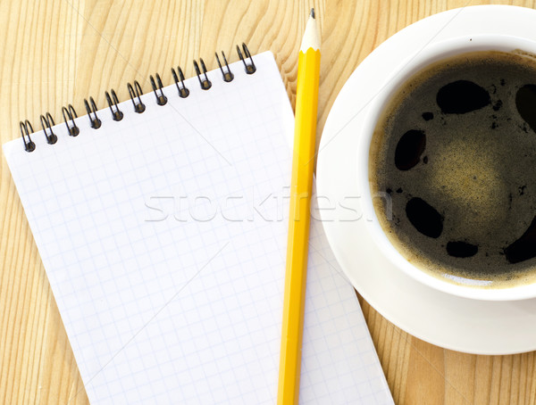 coffee cup and note Stock photo © tycoon