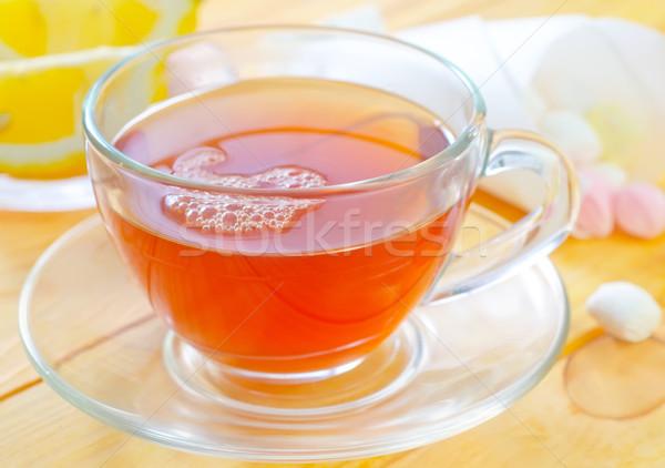 新鮮な 茶 水 オレンジ 表 ドリンク ストックフォト © tycoon