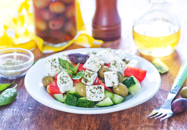 greek salad Stock photo © tycoon