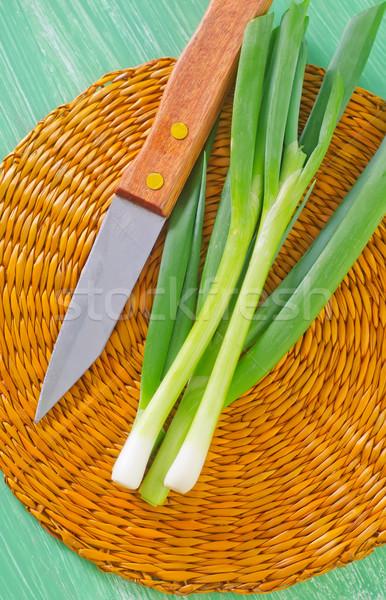 Yeşil soğan bahar çiftlik salata bitki yeme Stok fotoğraf © tycoon