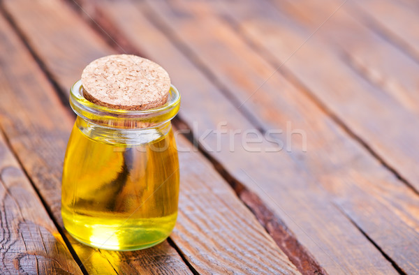oil in glass bottle Stock photo © tycoon