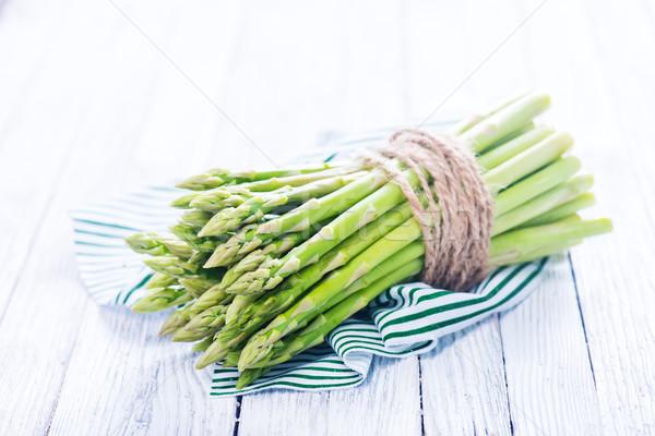 Greggio asparagi verde tavolo in legno fresche primavera Foto d'archivio © tycoon
