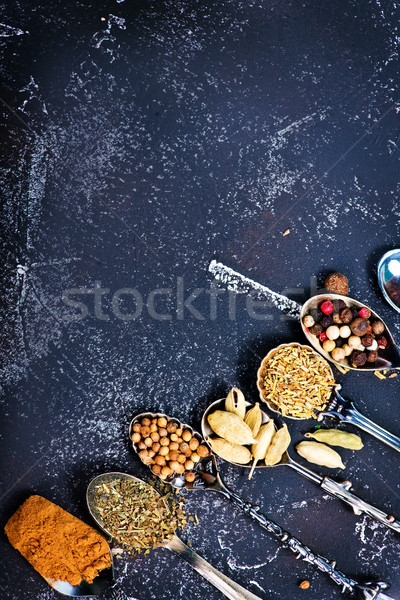 Tempero secar ervas preto tabela Foto stock © tycoon