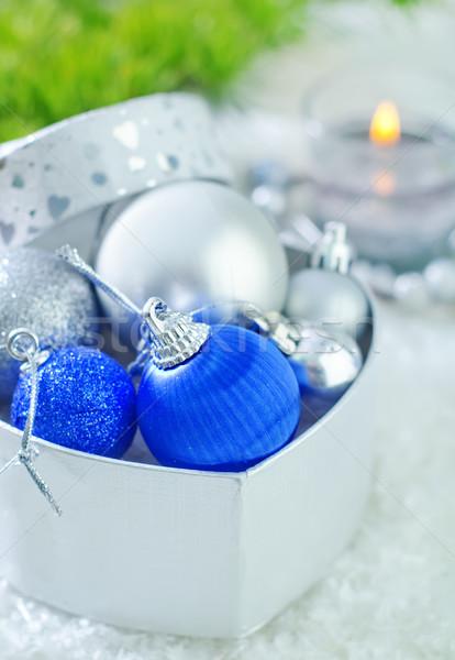 Сток-фото: Рождества · украшение · снега · фон · пространстве · зеленый