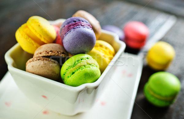 Colore ciotola tavola cioccolato torta verde Foto d'archivio © tycoon