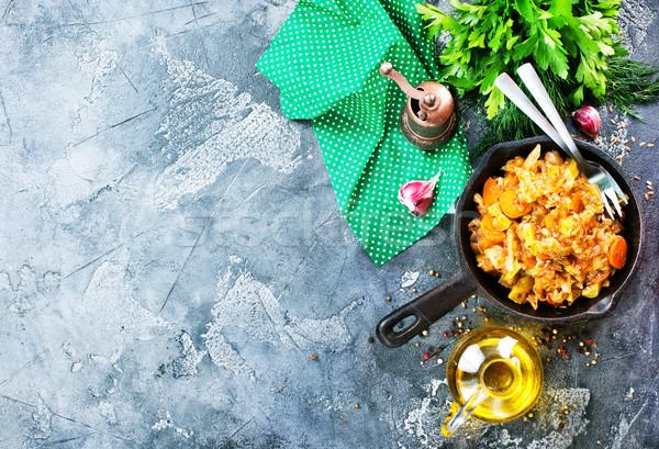 キャベツ シチュー その他 野菜 肉 背景 ストックフォト © tycoon
